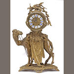 A Régence style gilt bronze camel form mantel clock <br>late 19th century