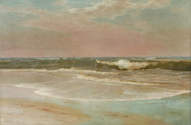 (n/a) Warren W. Sheppard (American, 1858-1937) Winter Shoreline 35 3/4 x 55in