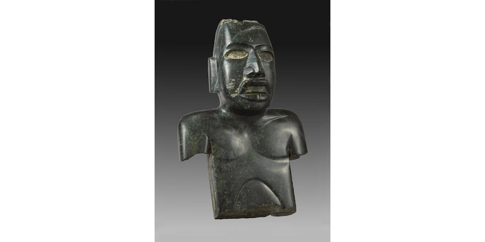 Large Olmecoid/Teotihuacan Serpentine Torso, Guerrero, ca. 300 B.C. - A.D. 300