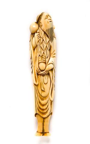 Ivory netsuke of Chokaro sen