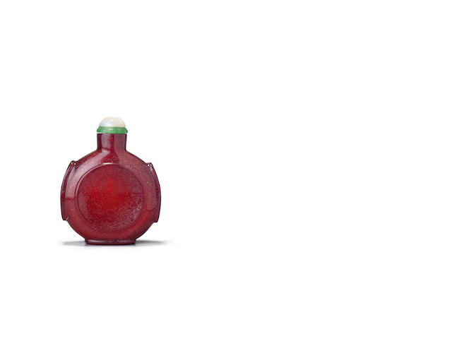 A red glass snuff bottle 1700-1800