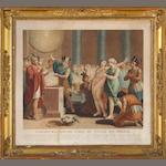 A set of six French colored lithograph prints of historical and mythological subjects<br>first quarter 19th century