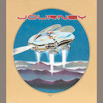 Stanley Mouse. 1982 Journey poster on tan felt.