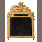 A Renaissance style giltwood and painted mirror<br>second half 19th century