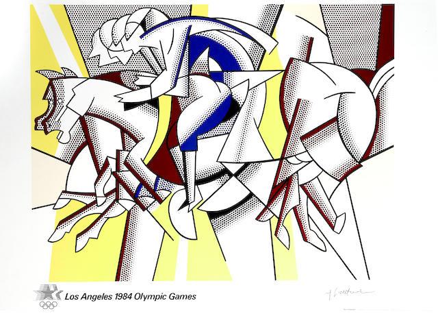 Roy Lichtenstein (American, 1923-1997); Los Angeles 1984 Olympic Games; Roy Lichtenstein: Yale University Gallery (Blam); (2)