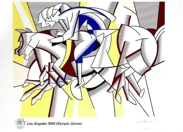 Roy Lichtenstein (American, 1923-1997); Los Angeles 1984 Olympic Games; Roy Lichtenstein: Yale University Gallery (Blam); (2)