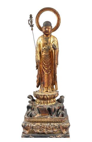 A wood figure of the Bodhisattva Jizo 18th century