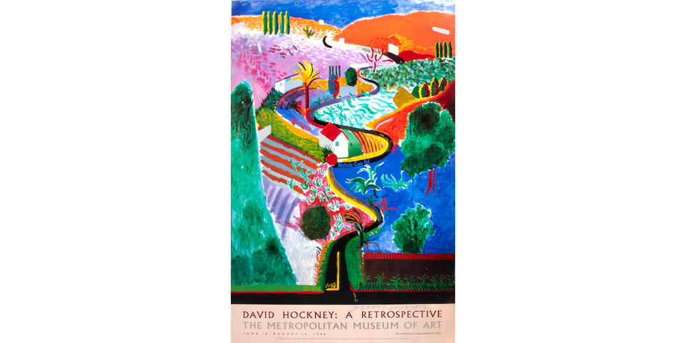 David Hockney (British, born 1937); David Hockney: A Retrospective (Nichols Canyon);