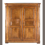 An impressive late Empire mahogany armoire<br>first quarter 19th century