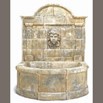 A French Baroque style limestone fountain