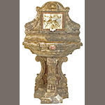 A fine Italian Renaissance style variegated marble wall fountain<br>late 19th century