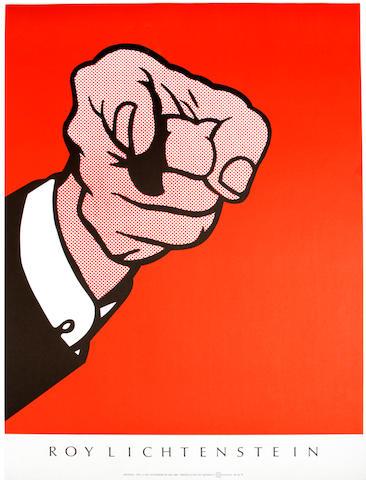 Roy Lichtenstein (American, 1923-1997); Roy Lichtenstein (Finger Pointing); Roy Lichtenstein, Yale University Art Gallery ; (2)