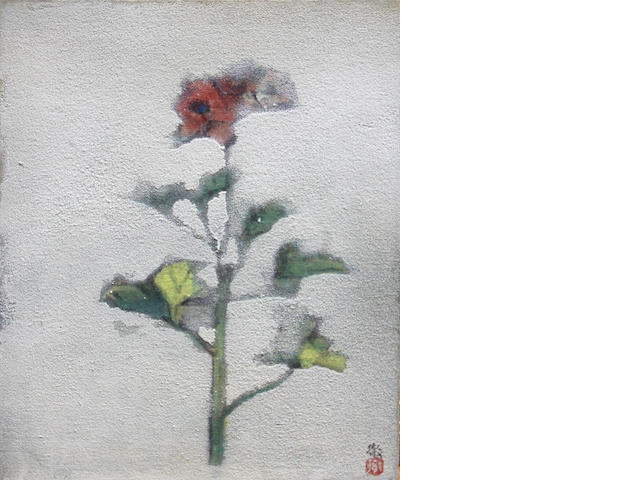 Suzuki Toru (active 2nd 1/2, 20th c.)<br>Two paintings of flowers