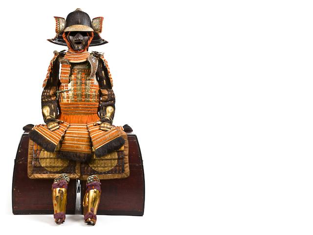 A warabe gusoku suit of armor for a child Edo period, 19th century