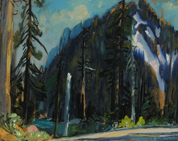 Alfred R. Mitchell (American, 1888-1972) Big mountain 7 3/4 x 10in