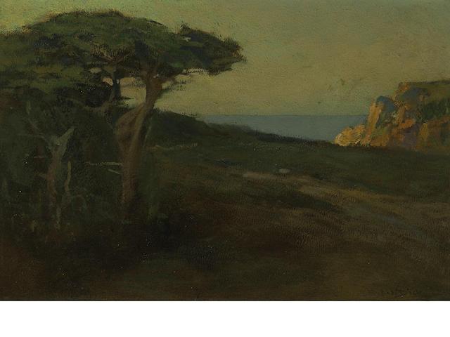 Charles Dickman (American, 1863-1943) Monterey coast 12 x 17 3/4in