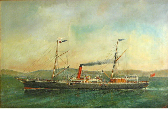 English School 19th C., Clansman Royal Mail Ship