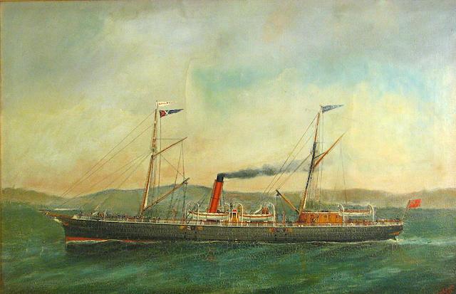 English School 19th C., Clansman Royal Mail Ship