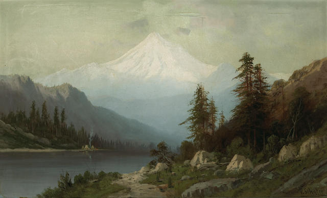 (n/a) Frederick Ferdinand Schafer (German/American, 1839-1927) Mt. Baker, British Columbia 22 x 36in