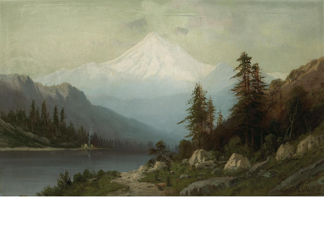 Frederick Ferdinand Schafer (German/American, 1839-1927) Mt. Baker, British Columbia 22 x 36in