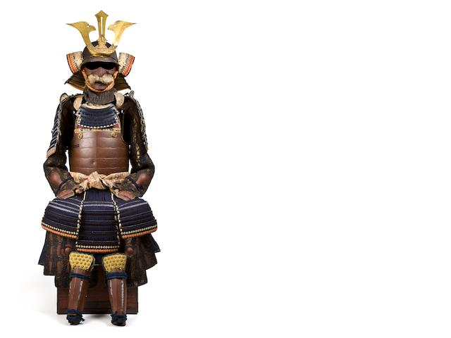A russet iron armor with an okegawa do with a bullet test Edo period, 19th century