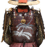 A fine armor with a ni-mai okegawa hishinui do  Helmet by Iehisa, Momoyama-Edo period, 17th century