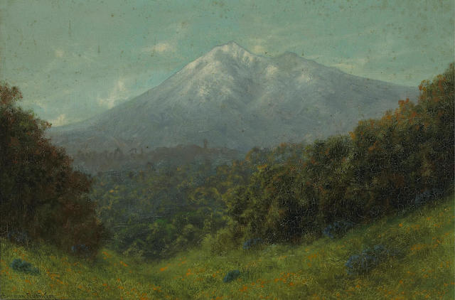 Charles Dormon Robinson (American, 1847-1933) Mt. Tamalpais 12 x 18in