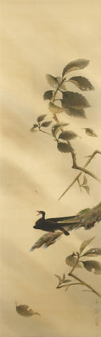 Gokura Senjin (1892-1975)<br>Yamatsubame (Mountain Swallow) Dated 1928