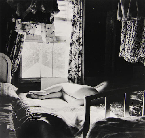 Harry Callahan (American, 1912-1999); Eleanor, Port Huron (Bed); Eleanor, Port Huron (Landscape); (2)