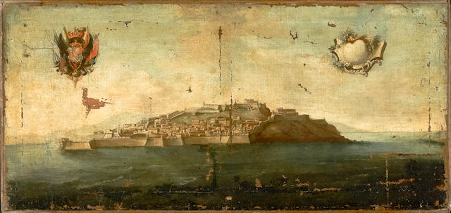 (n/a) Italian School, 18th/19th century Study of an island 23 1/2 x 50in (59.7 x 127.0cm)