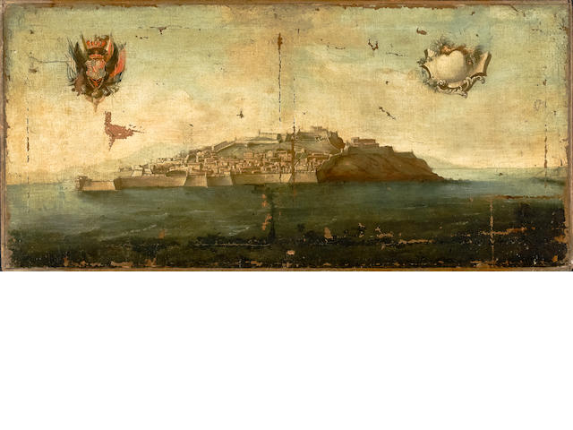 Italian School Study of an island 23 1/2 x 50in (59.7 x 127.0cm)