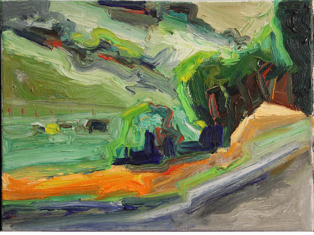 Lundy Siegriest (American, 1925-1985) Untitled #178 (Farm in a landscape) 9 x 12in