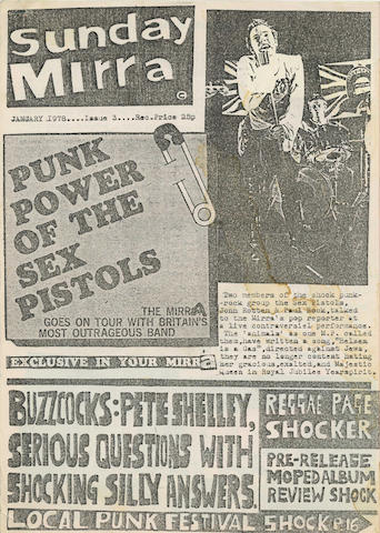 A group of Punk fanzines,