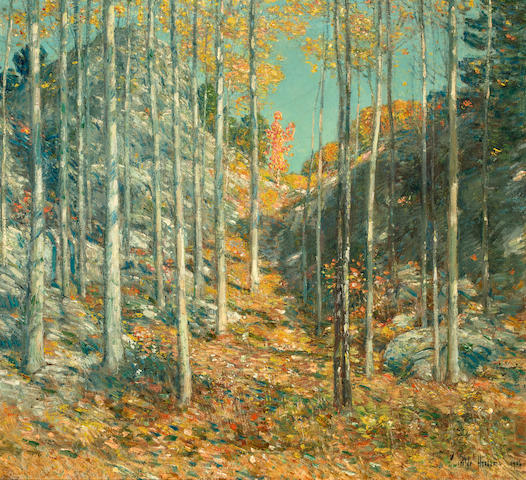 (n/a) Childe Hassam (American, 1859-1935) Old Indian Trail to the Sea, 1906 22 x 24in