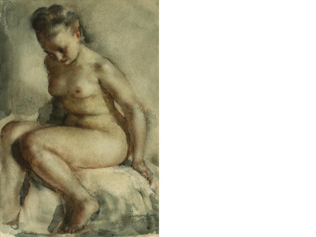 Gluckman, Nude, wc, 13 x 9in