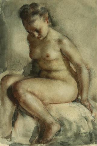 Gluckman, Nude, wc, 13 x 9in