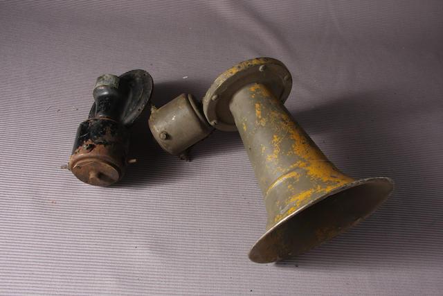 A large Klaxon horn,