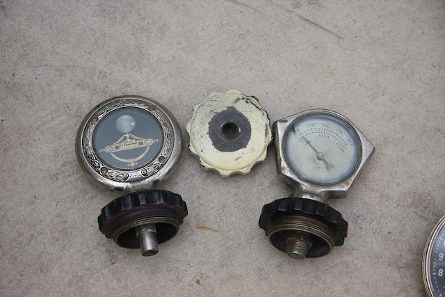 Three radiator caps,