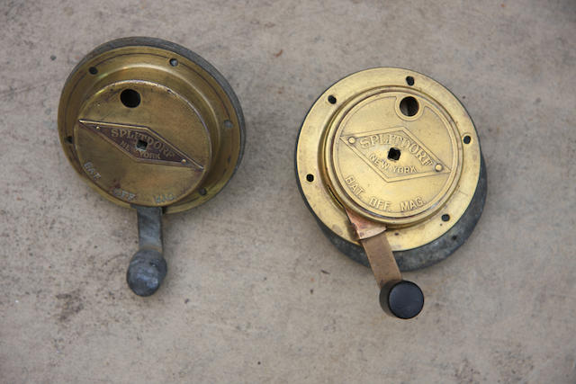 Two Splitdorf ignition switches,