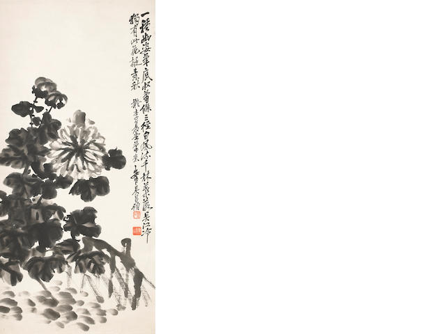 Attributed to Wu Changshuo (1844-1927) Chrysanthemums