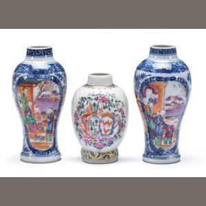 Three small Chinese export porcelains 18th century