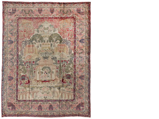 A Lavar Kerman carpet size approximately 9ft x 11ft 8in (274.3 x 355.6cm)