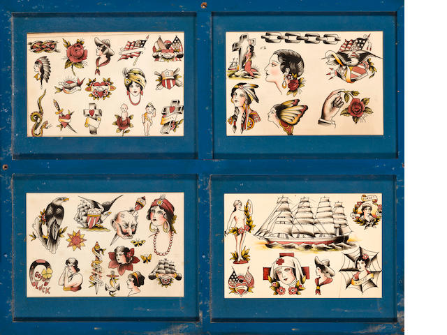 A group of tattoo patterns