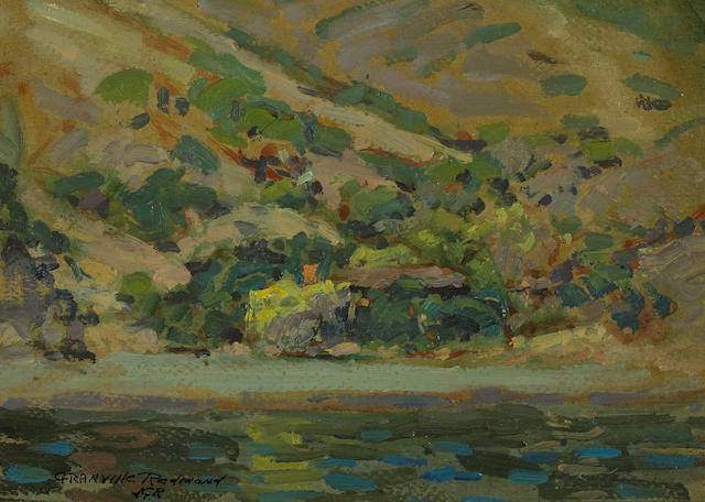 Granville Redmond (American, 1871-1935) Thought to be Tamales Bay 7 1/4 x 10in