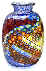 A fine and rare Ercole Barovier Mosaic glass vase executed by Vetreria Artistica Barovier & C., circa 1924