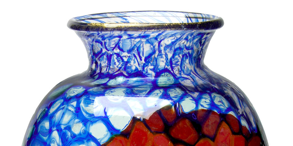 A fine and rare Ercole Barovier Mosaic glass vase executed by Vetreria Artistica Barovier & C., circa 1924
