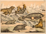 A Collection of whaling colored engravings and lithographs<br>19th century and later