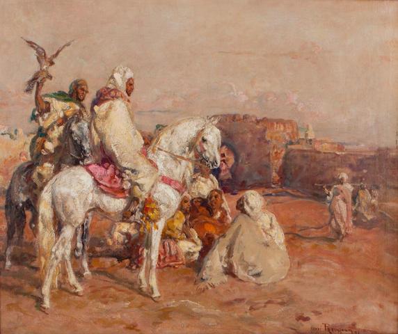 Henri Emilien Rousseau (French, 1875-1933) Return of the falconer