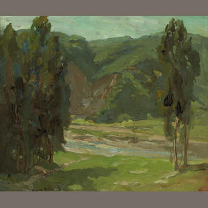 Franz Bischoff Stream through the valley