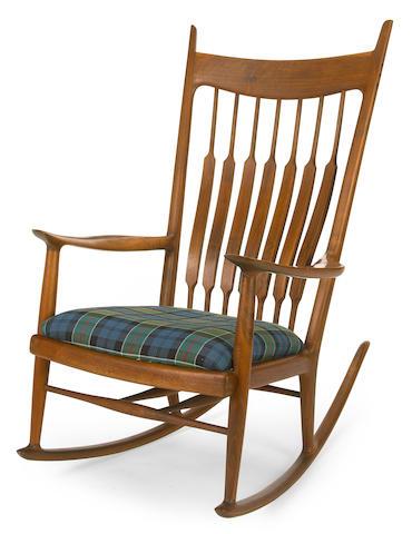 A Sam Maloof Walnut rocking chair, 1971